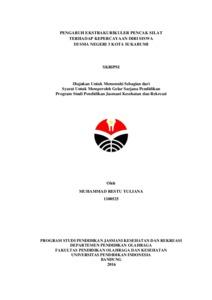 Pengaruh Ekstrakurikuler Pencak Silat Terhadap Kepercayaan Diri Siswa Di Sma N 3 Kota Sukabumi Upi Repository
